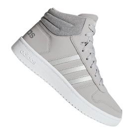 Gris Chaussures Adidas Hoops Mid 2.0 K Jr F35796