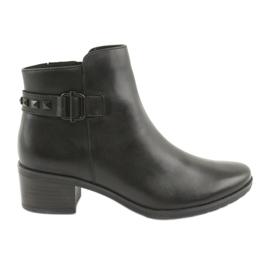 Caprice 25433 bottes noires à crampons noirs