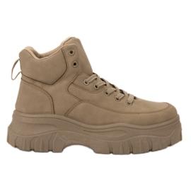 Kylie brun Chaussures à lacets sur la plateforme