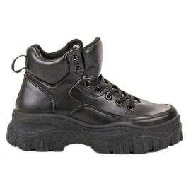 Kylie noir Chaussures à lacets sur la plateforme