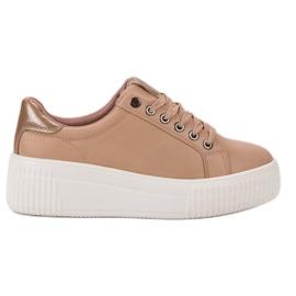 Kylie Chaussures de sport sur la plate-forme brun