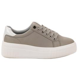 Kylie gris Chaussures de sport sur la plate-forme