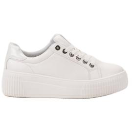 Kylie blanc Chaussures de sport sur la plate-forme
