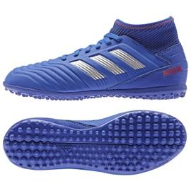 Adidas Predator 19.3 Tf Jr CM8546 chaussures bleues