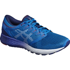 Bleu Chaussures de course Asics RoadHawk Ff 2 M 1011A136-400