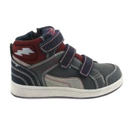 American Club ES28 chaussures de sport hautes bleu marine