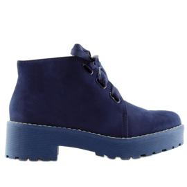 Bottes pour dames chaussures bleu foncé LL219 Blue marine