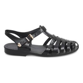 Sandales Romaines Meliski PT36 Noir