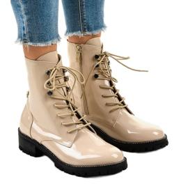 Bottes pour dames beiges XW37278 brun