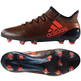 Adidas X 17.1 Fg M S82288 chaussures noir et rouge noir, rouge
