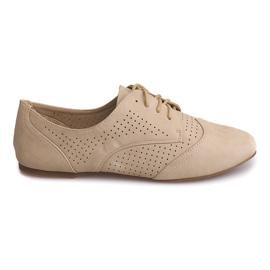 Brun Chaussures Jazz Ajourées Basse 219 Beige