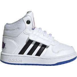 Blanc Chaussures Adidas Hoops Mid 2.0 I Jr EE8551