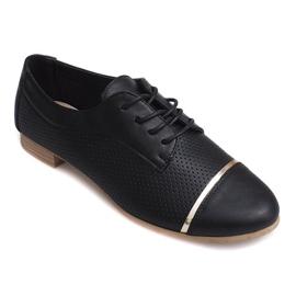 Chaussures basses ajourées Jazz pour femmes 6-154 noires