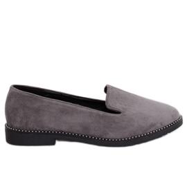 Mocassins gris seigneurs gris N90 Gris