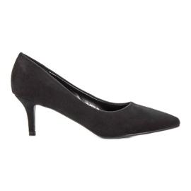 Ideal Shoes noir Escarpins confortables à talons hauts
