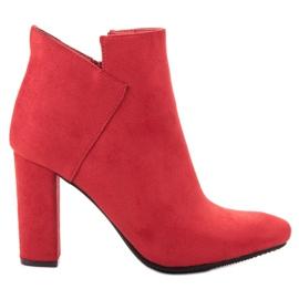 Vinceza rouge Bottes en daim sexy
