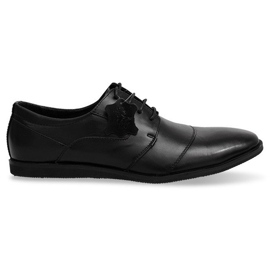 Chaussures à lacets en cuir LJ41 Noir