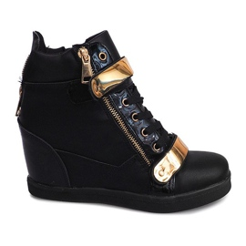 Wedge Sneakers Sheet A89 Noir - Livraison Gratuite avec Spartoo.com!