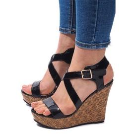 Sandales compensées S260 Noir