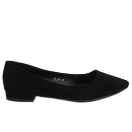 Ballerines avec orteils en amande noir RC-76 noir