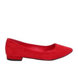 Ballerines avec orteils en amande rouge RC-76 rouge