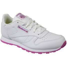 Reebok Classic Leather Jr BS8044 chaussures blanc