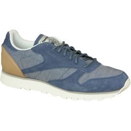 Bleu Chaussures Reebok Cl Fleck M en cuir AQ9722