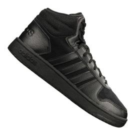 Noir Chaussures Adidas Hoops 2.0 Mid M B44649