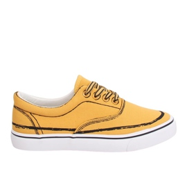 Sneakers femme jaune BS103 jaune