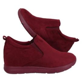 Rouge Chaussures sur un talon compensé caché ZY-7K67 Red