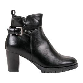 Vinceza Bottes d'automne élégantes noir