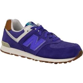 Chaussures New Balance en KL574EUG pourpre