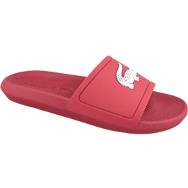 Rouge Chaussons Lacoste Croco Slide 119 1 M 737CMA001817K