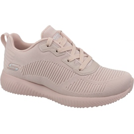 Rose Chaussures Skechers Bobs Squad W 32504-PNK