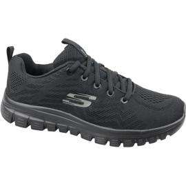 Noir Skechers Graceful Soyez connecté chaussures W 12615-BBK