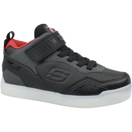 Noir Chaussures Skechers Energy Lights Jr 90613L-BKRD