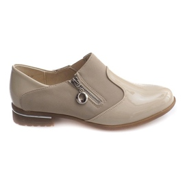 Brun Chaussures à enfiler classiques 15312 Beige