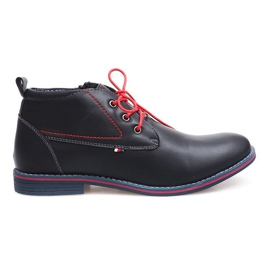 Chaussures attachées haut isolées 86105 bleu marine
