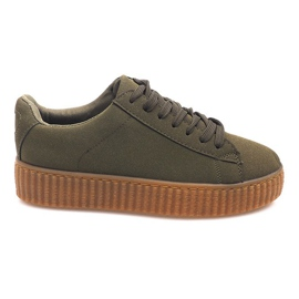 Bottes Creepers On Platform AM-1101 Vert