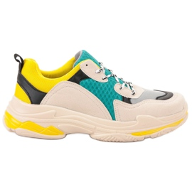 SHELOVET Chaussures de sport décontractées multicolore