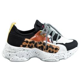 SHELOVET Chaussures de sport à imprimé léopard