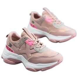 SHELOVET Chaussures de sport à la mode rose