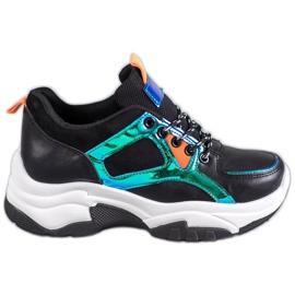 SHELOVET Chaussures de sport avec effet Holo noir