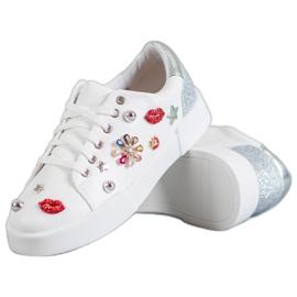 Bestelle blanc Chaussures de sport avec des correctifs