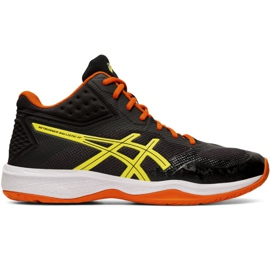 Chaussures de volleyball Asics Netburner Ballistic Ff Mt M 1051A003 003 noir noir