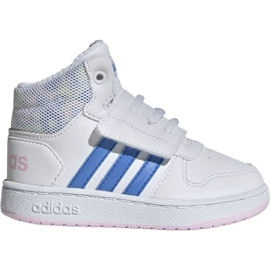 Blanc Chaussures Adidas Hoops Mid 2.0 I Jr EE8550