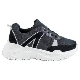 SHELOVET Chaussures liées sur la plate-forme noir