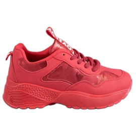 SHELOVET Baskets Camo Rouge