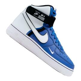 Nike Air Force 1 High LV8 2 Jr CI2164-400 chaussures blanc-bleu