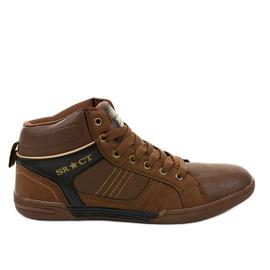 Baskets à lacets pour hommes bruns 15M749